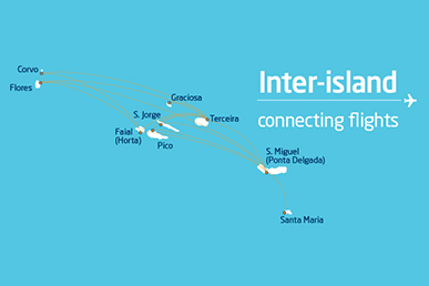 Inter-island connection flights free of charge in SATA Azores